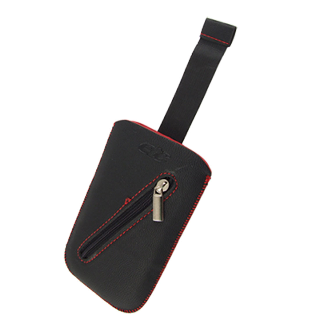 Protective Black Faux Leather Pull Strap Pouch for Nokia E63