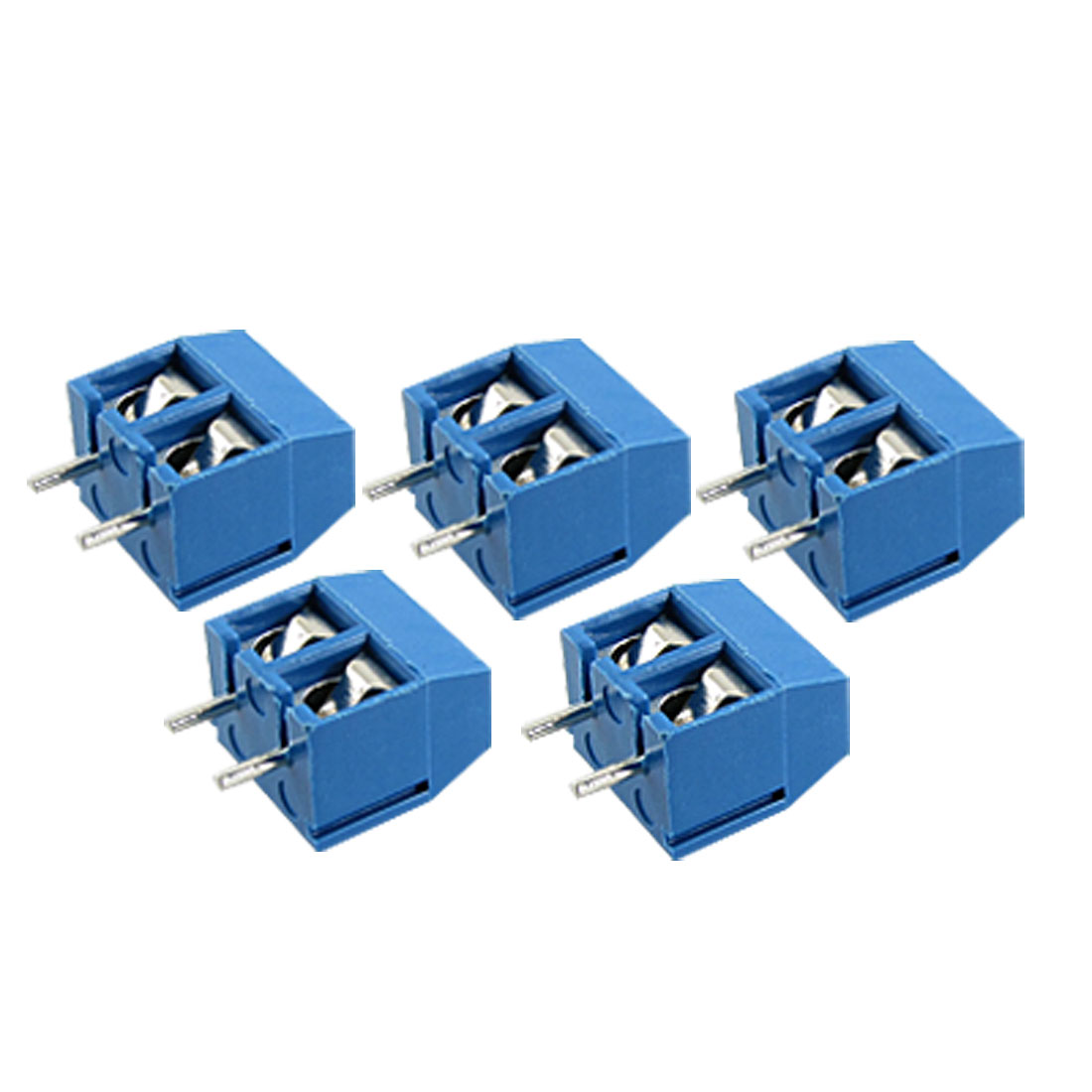 5 Pcs 2 Pin 2-way Screw Terminal Block Connector 5.08mm Pitch Panel PCB Mount