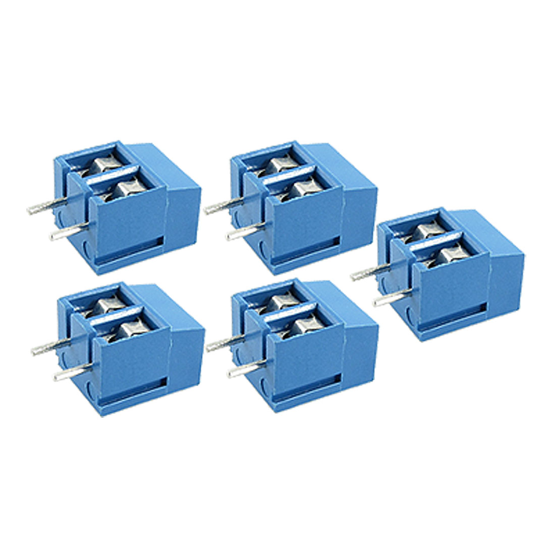 5 Pcs 2 pole 5.08mm PCB Universal Screw Terminal Block Connector 300V 10A