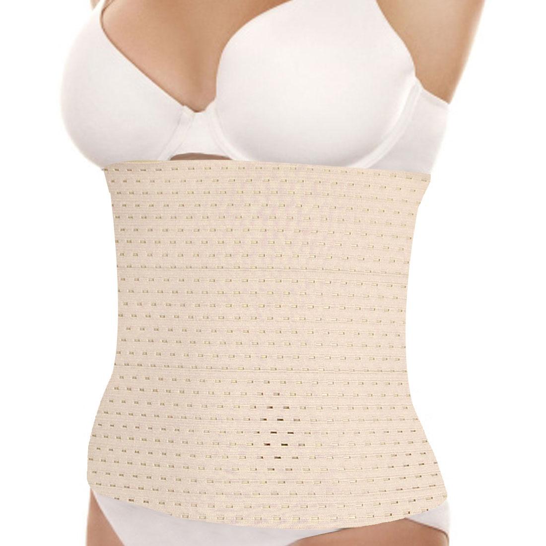 Lady Eye Hook Closure Tummy Cincher Shapewear Wrap Off White S