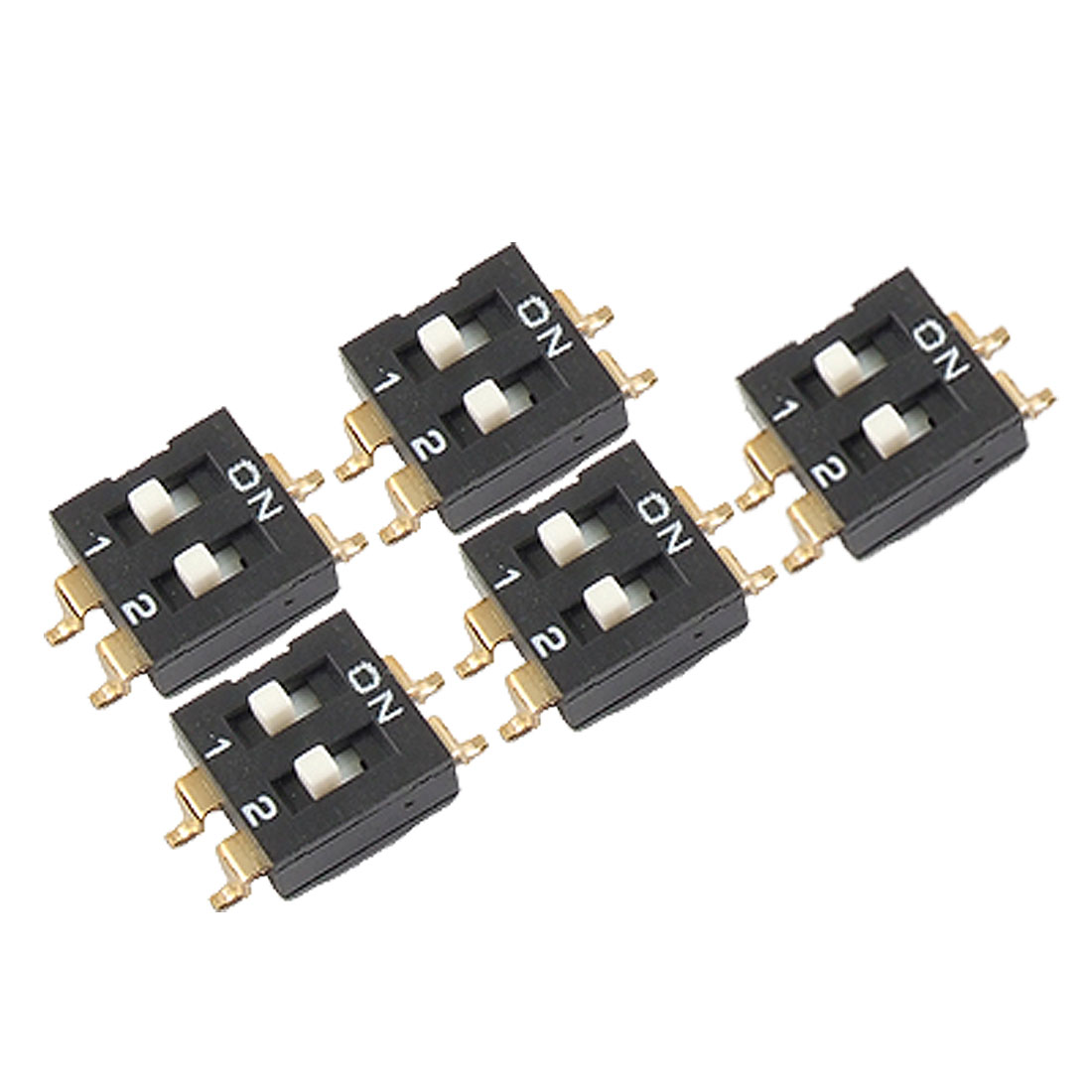 "0.1"" Pin Spacing 2 Position SMD SMT Type DIP Switch 5 Pcs"
