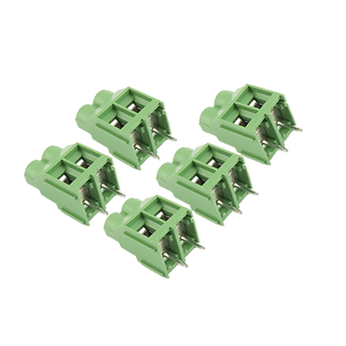 5 Pcs 9mm Pitch 2P Screw Terminal Block Connetor 300V 30A