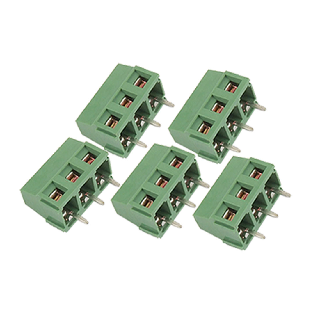 5 Pcs 5mm Pitch 3P Screw Terminal Block PCB Connector 300V 10A