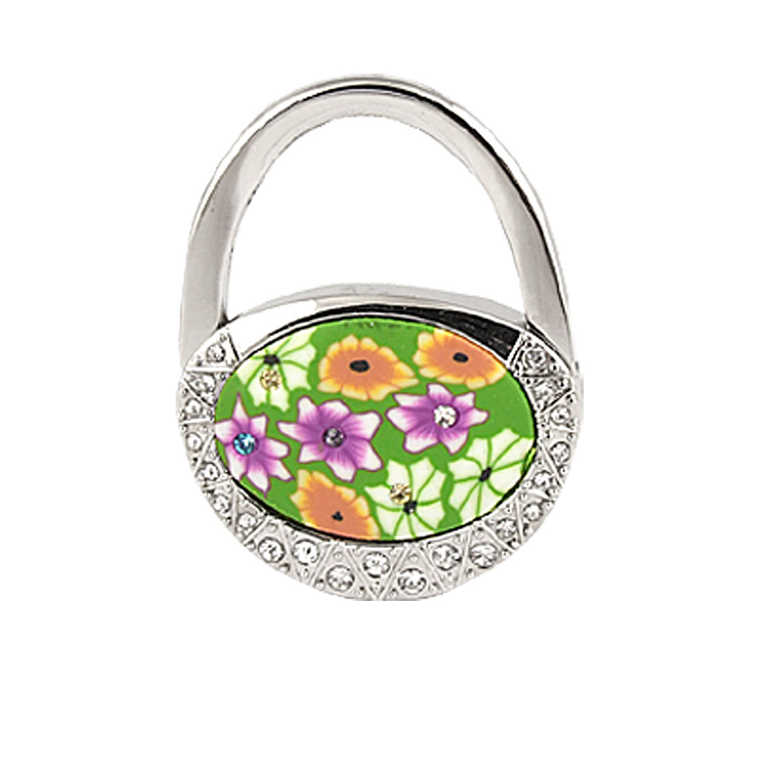 Rhinestone Inlaid Padlock Style Folding Hook for Handbag Purse