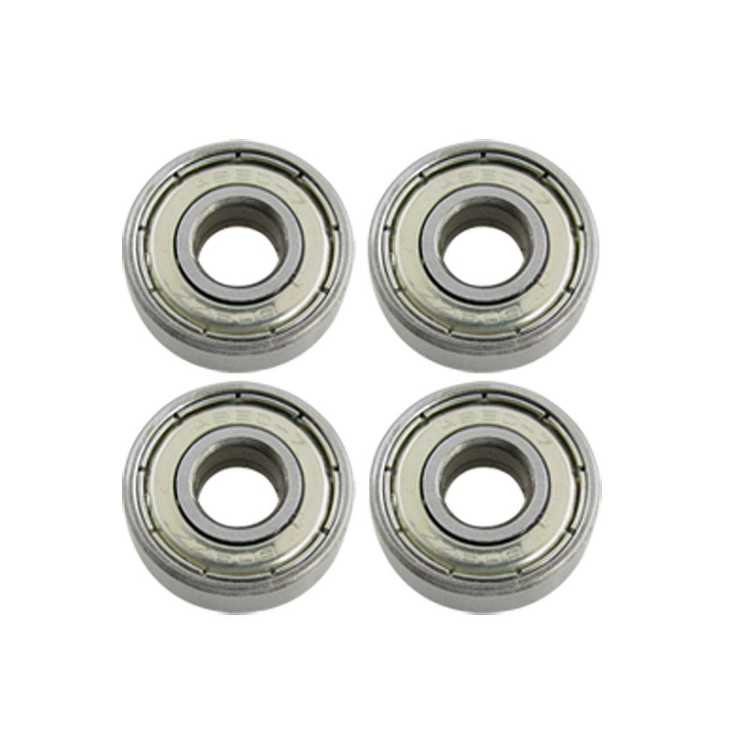 4 Pcs Deep 22mm Diameter Groove Roller-Skate Ball Wheel Bearings