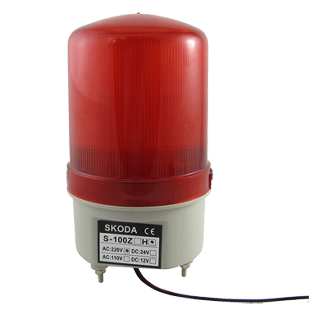 Red LED Industrial Signal Tower Buzzer Sound Alarm Flash Light 90dB AC 220V