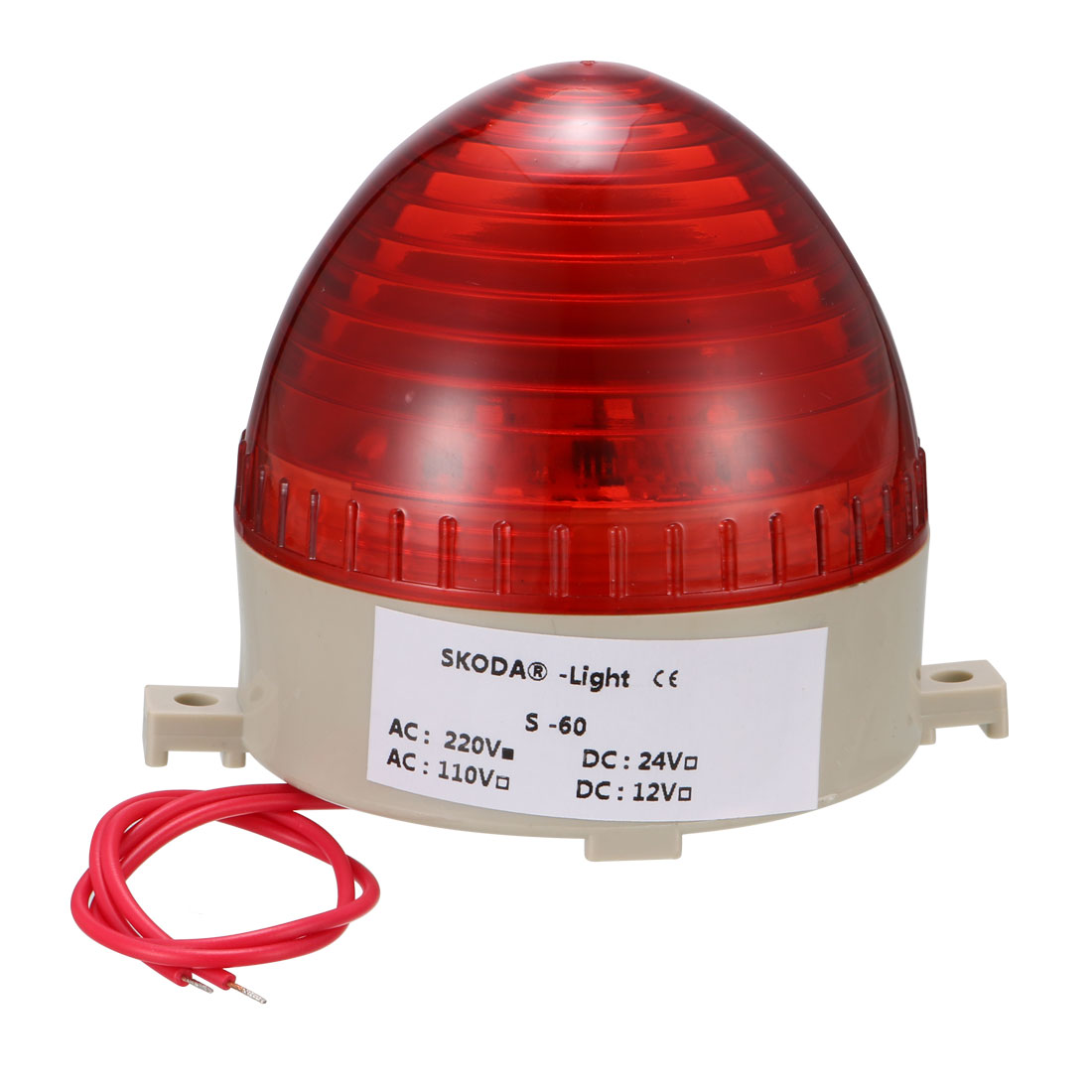 Red LED Strobe Warning Industrial Signal Tower Stack Light AC 220V