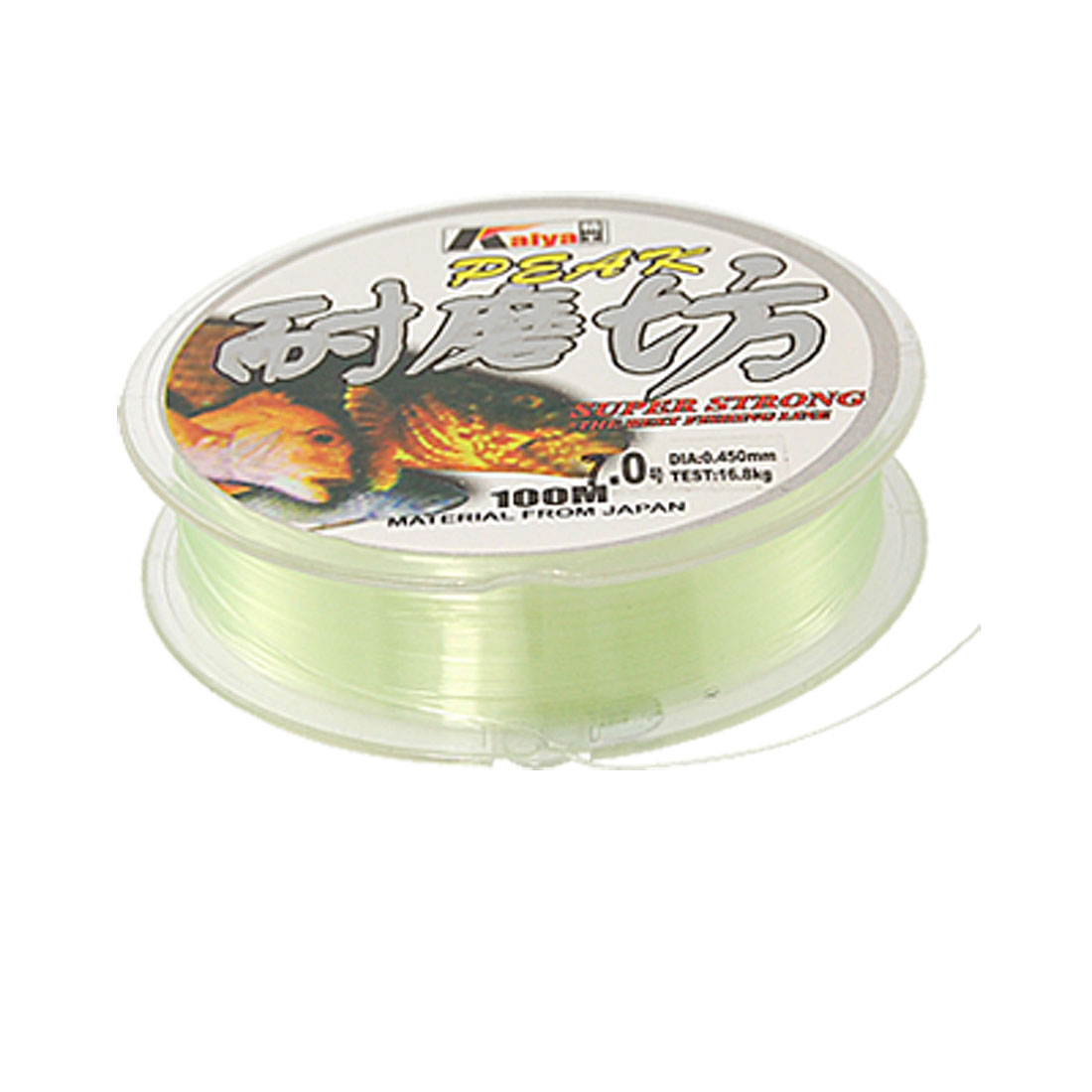 Clear Green Nylon Thread 0.45mm Dia Fishing Line Spool