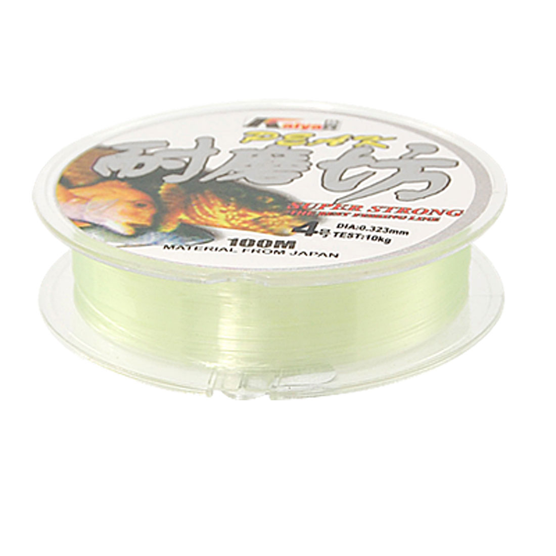 100m 0.285mm Dia 7.9Kg Spool Fishing Line Clear Green