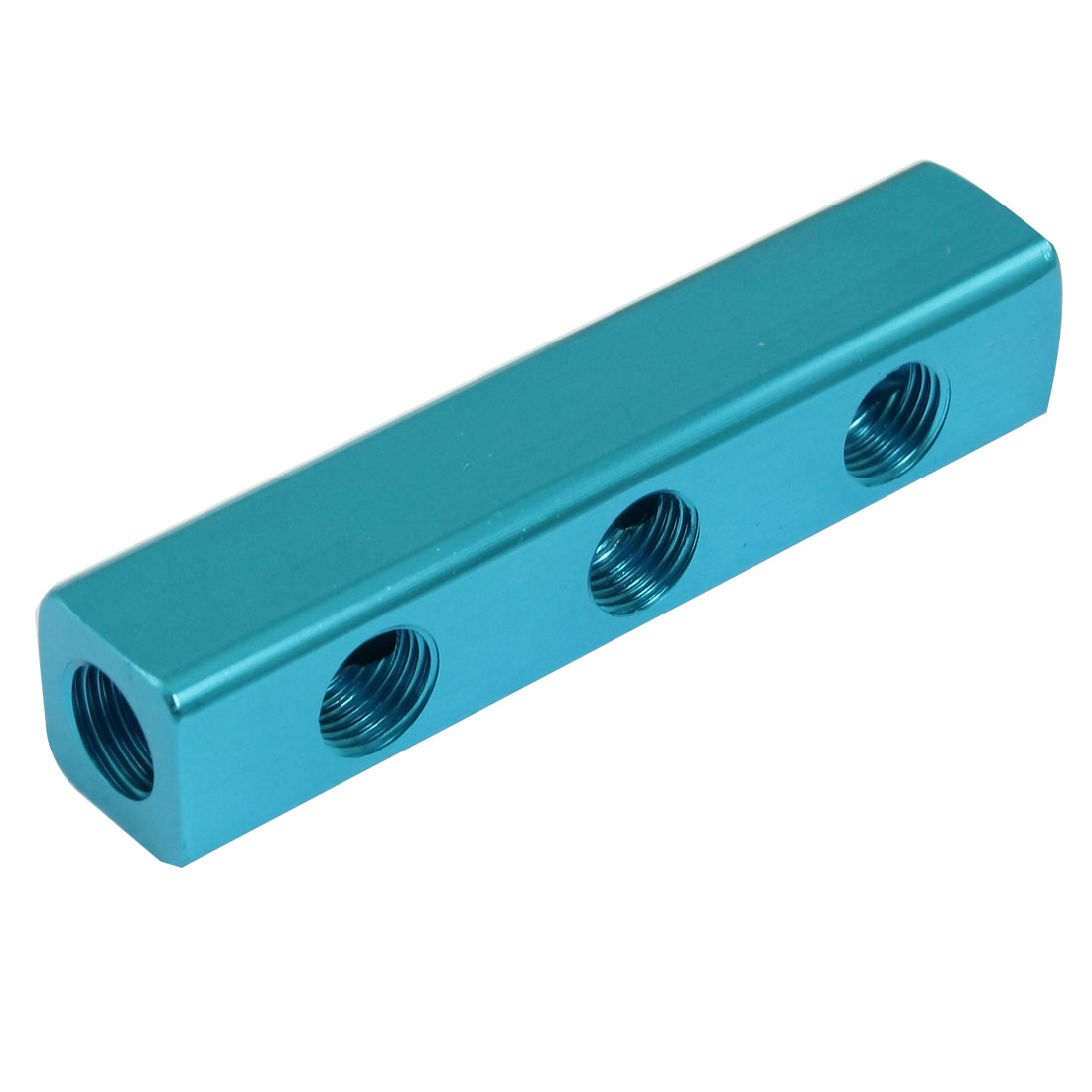 "1/4"" BSPT Multi-functional 3 In 3 Out Air Inline Manifold Splitter Block Blue"