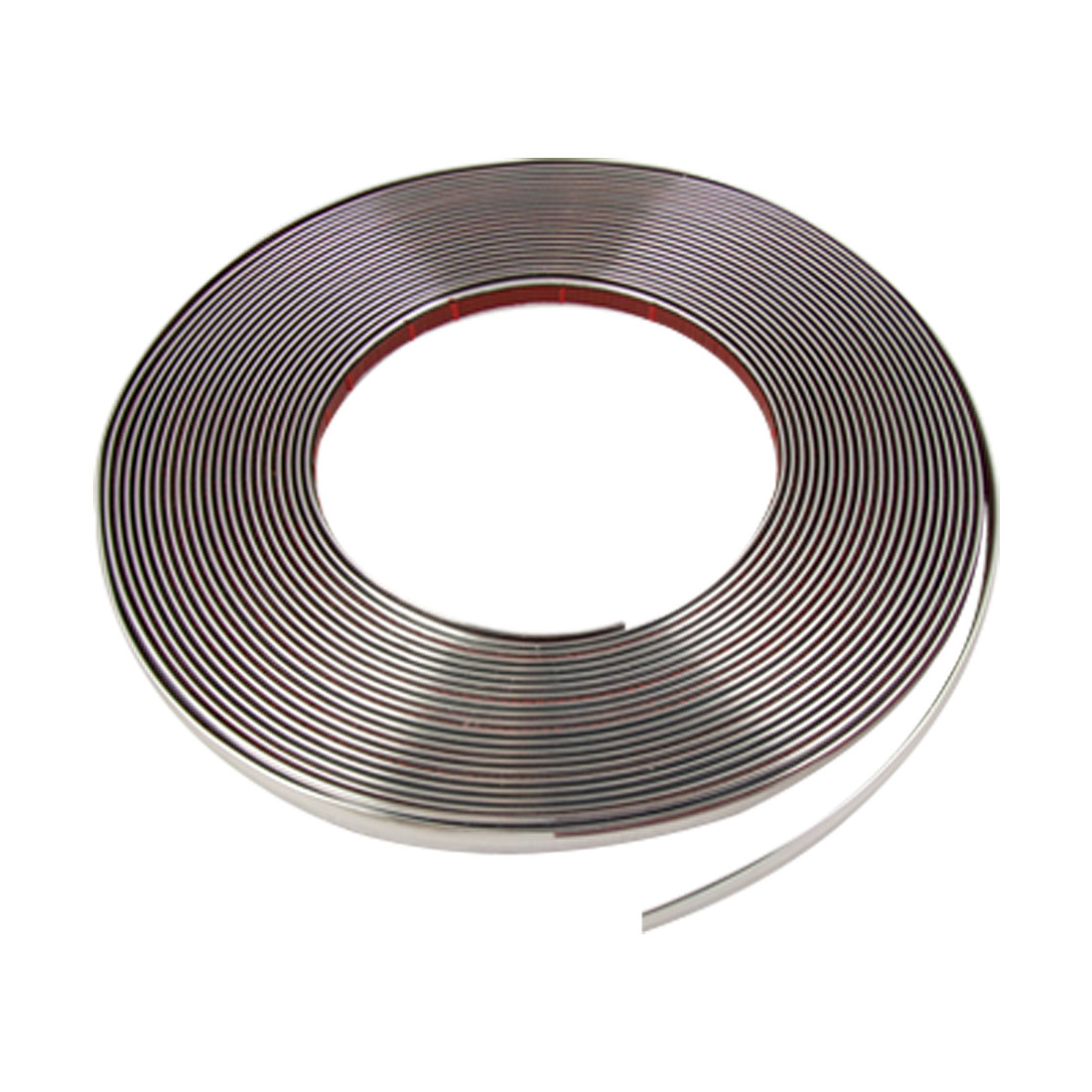 10mm x 15M Silver Tone Width Flexible Chrome Moulding Trim Strip