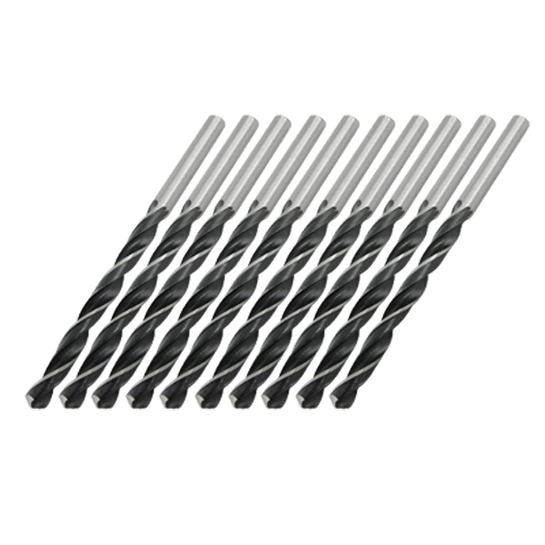 Metal Drilling 5.5mm Dia Straight Twist Drill Bit Gray 10 Pcs