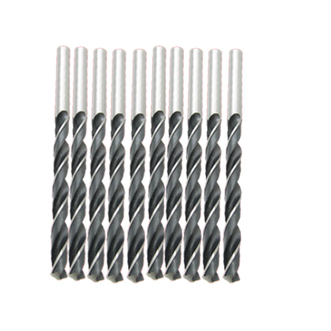 5mm Dia Straight Shank HSS Twist Drill Bit 10 Pcs for Marble Metal