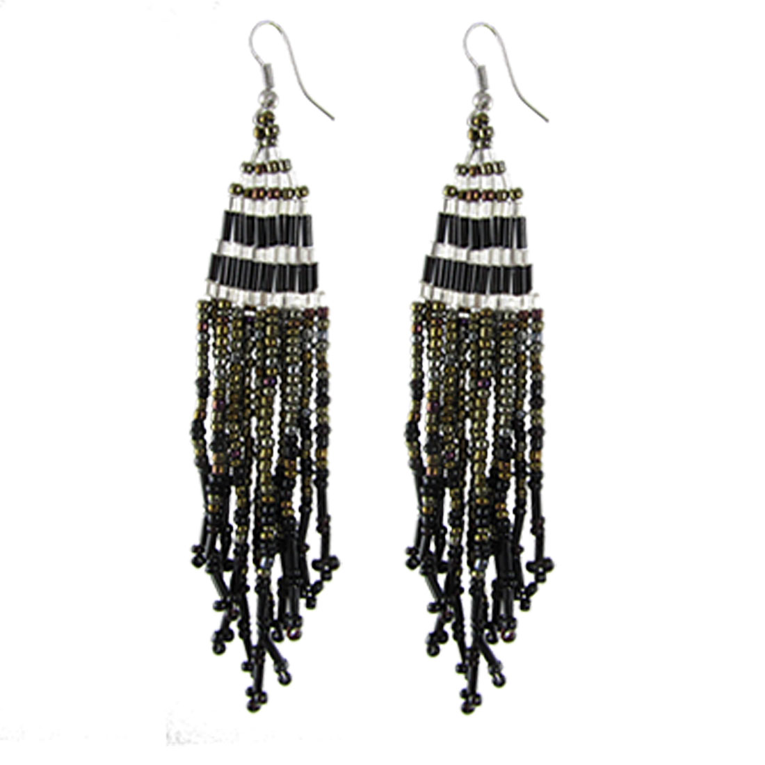 Multi-color Beads Pendant Chandelier Dangle Hook Earrings for Lady
