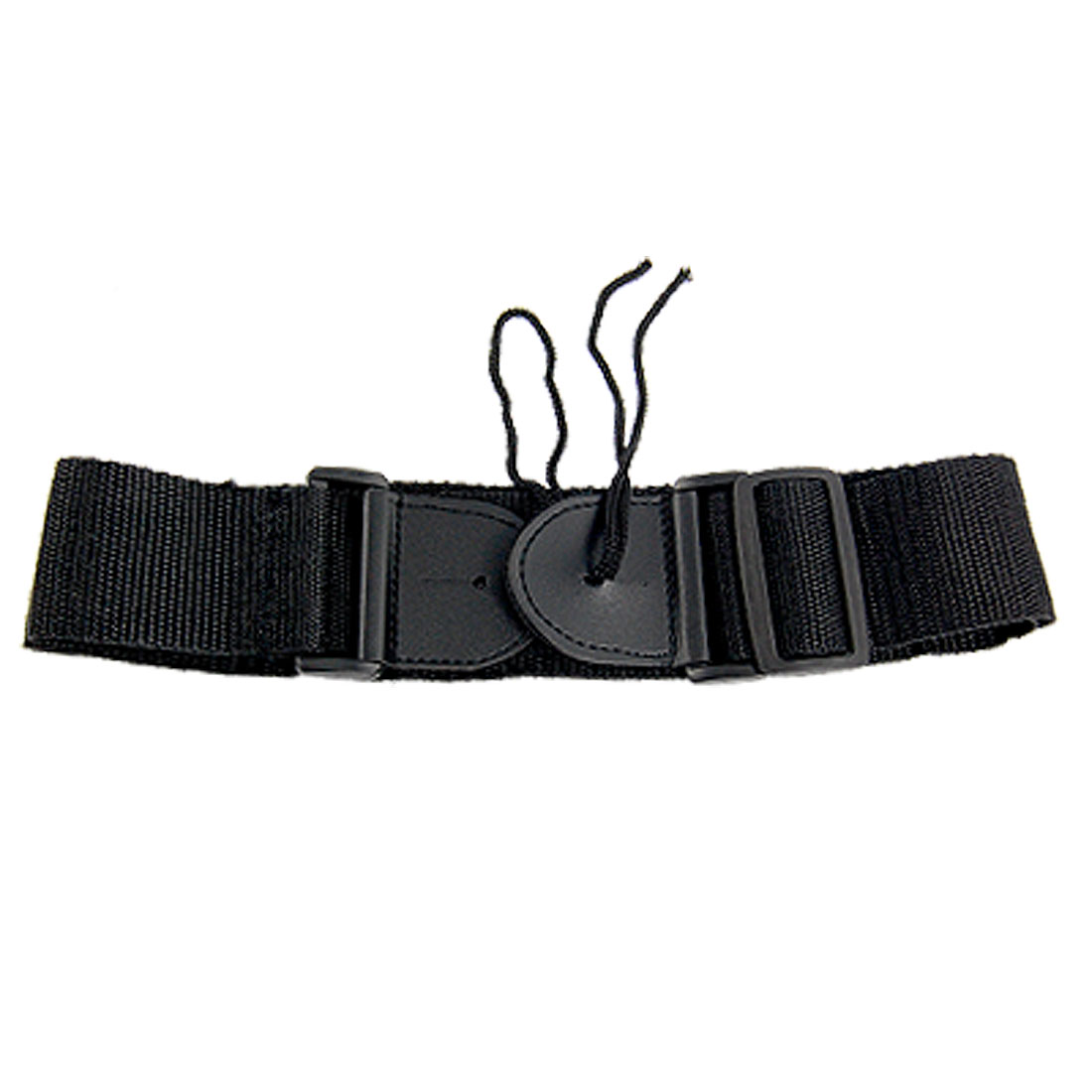 Solid Black Nylon Adjustable Guitar Shoulder Strap