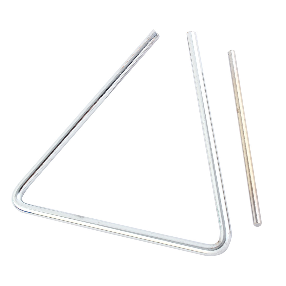 Musician Steel Orchestral Percussion Triangle Musical Silver Tone 6 Inch Long