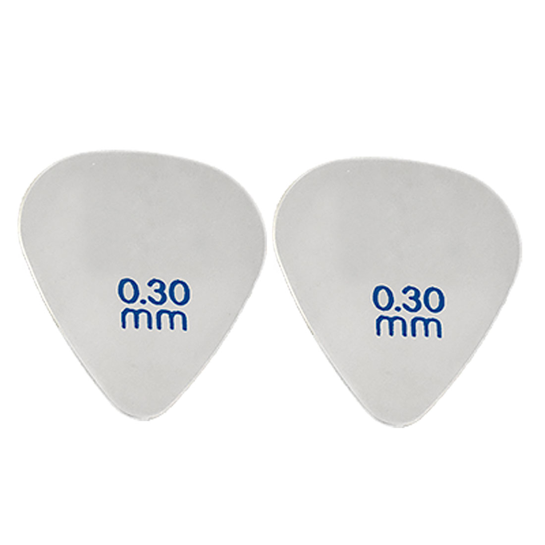 2 Pcs Metal Triangle 0.3mm Thick Plectrum Thumb Pick for Guitar