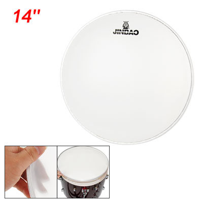 "Replacement Single Ply White Drumhead for 14"" Dia Snare Drum"