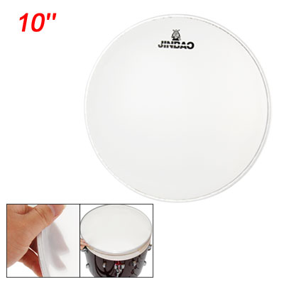 "Musical Instrument Parts Single Ply 10"" Bass Snare Drum Head White"