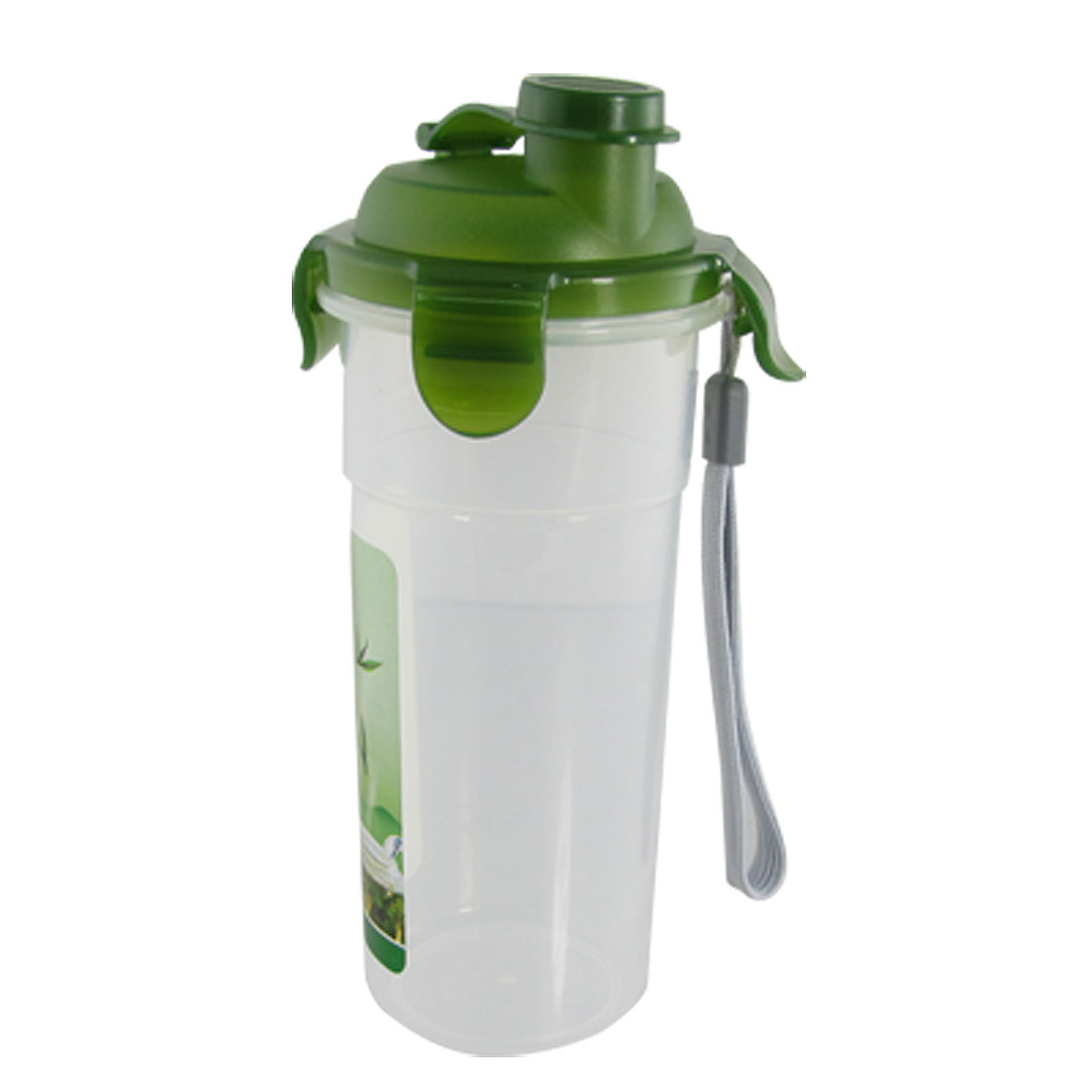 Leakproof Green Clear Plastic 0.5L Water Milk Bottle