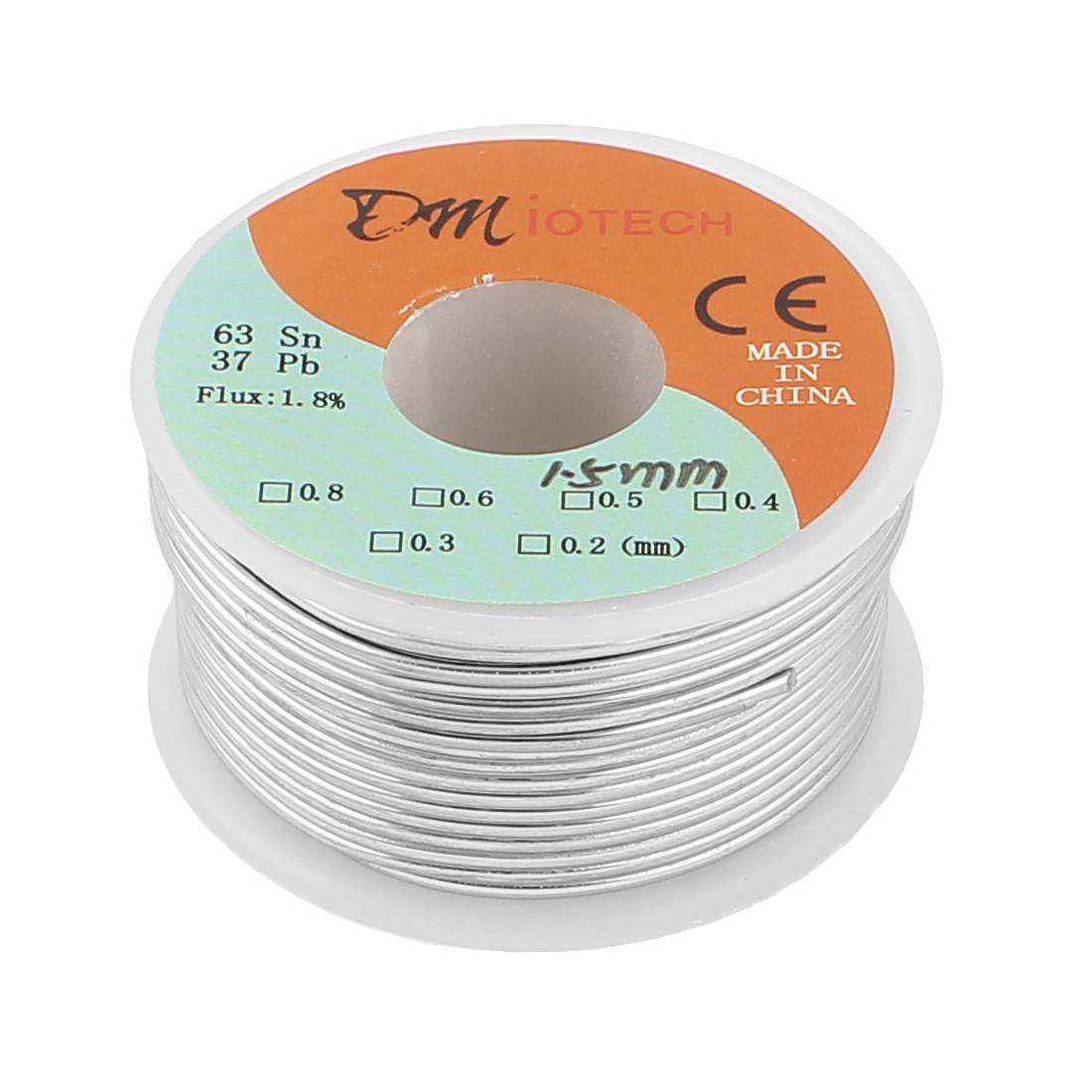 DMiotech 1.5mm 150g 63/37 Tin Lead Roll Rosin Cored Soldering Wire Reel