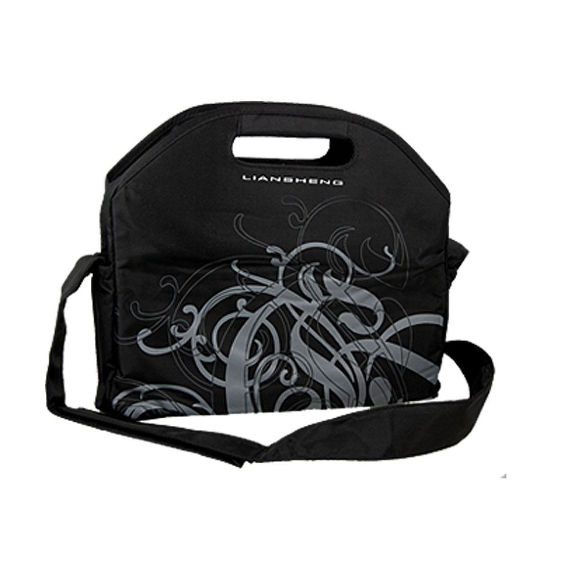 """10"""" 10.1"""" 10.2"""" Black Floral Tablet Laptop Sleeve Shoulder Bag"""