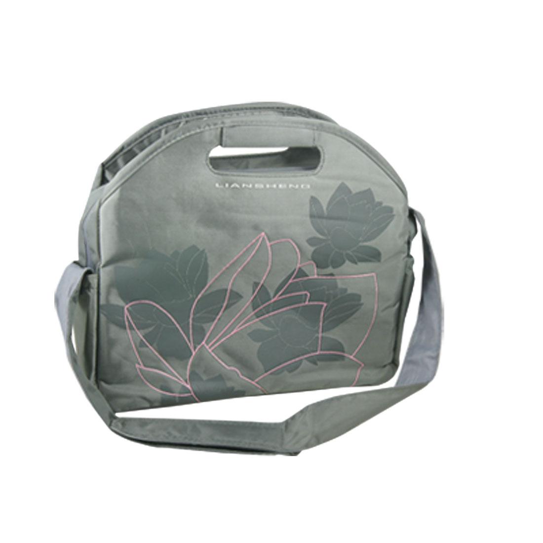 """10"""" 10.1"""" 10.2"""" Gray Floral Tablet PC Laptop Sleeve Shoulder Bag"""