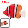 White Wiggly Tail Striped Plastic Fish Aquarium Ornament