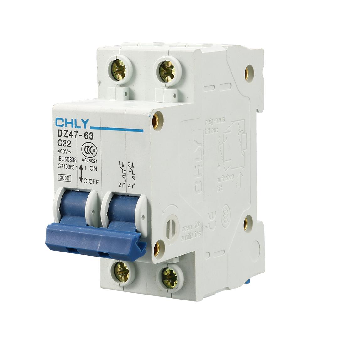 DZ47-63 C32 2P 32A Circuit Breaker