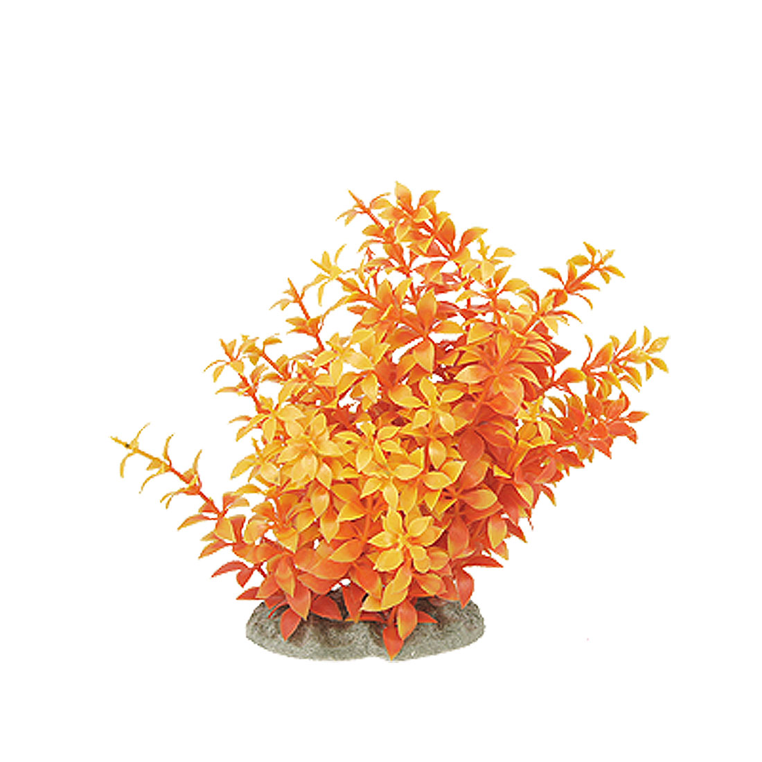 Fish Tank Orange Red Aquascaping Plastic Ornament Water Grass