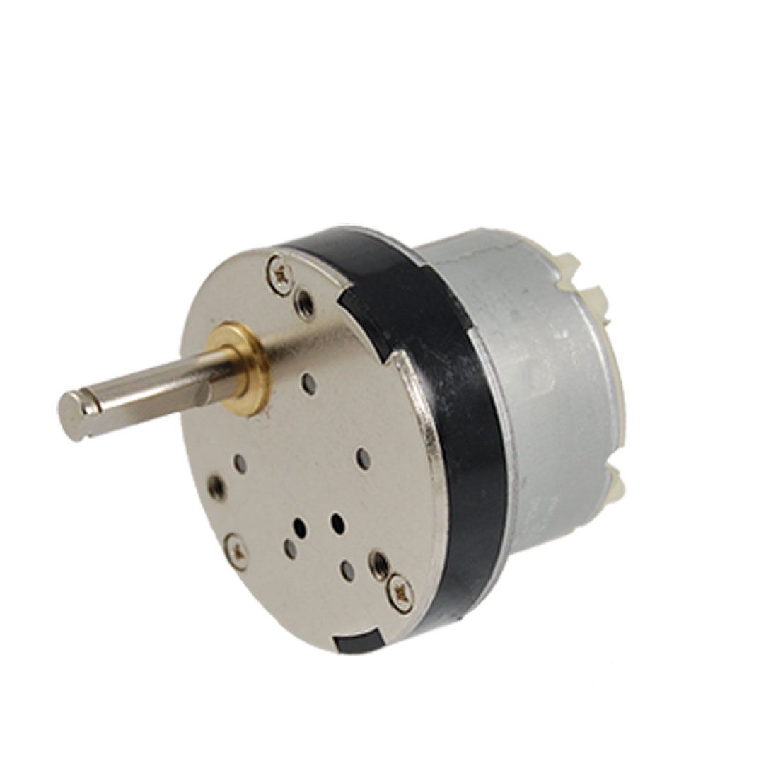 40mm Diameter 12V 0.5A DC 7RPM Speed Reducing Geared Motor