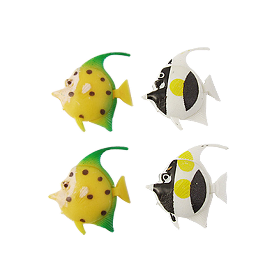 Aquarium Multi-colored Plastic Movable Fish Decor 4 Pcs