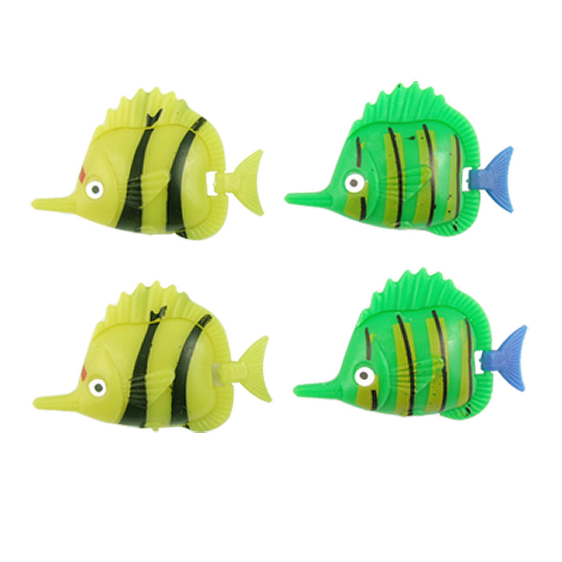 Multi-colored Plastic Swimming Fish Ornament 4 Pcs for Aquarium