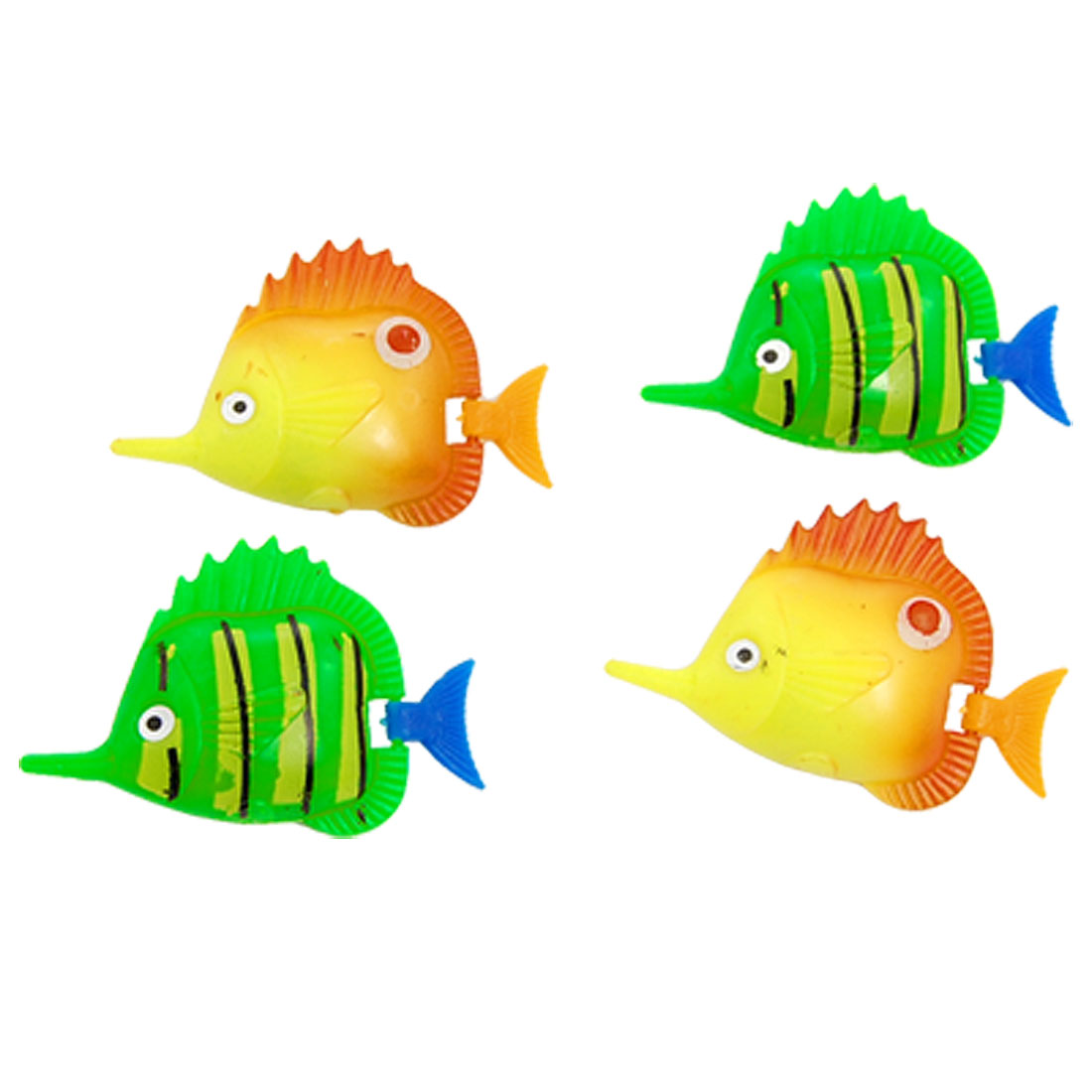 4 Pcs Artificial Plastic Movable Fish Decor for Aquarium