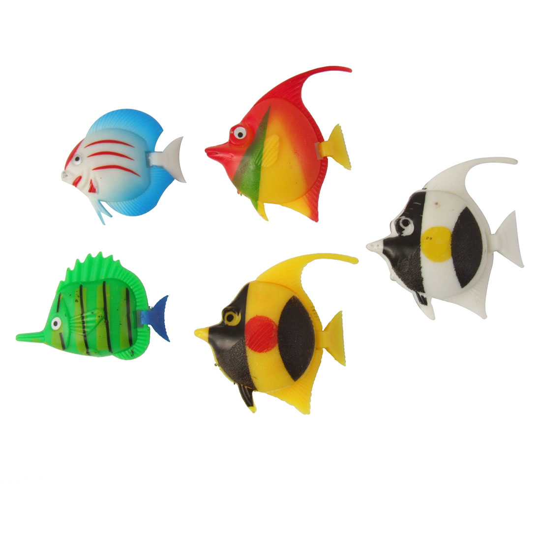 Multi-colored Artificial Fish Decor 5 Pcs for Aquarium