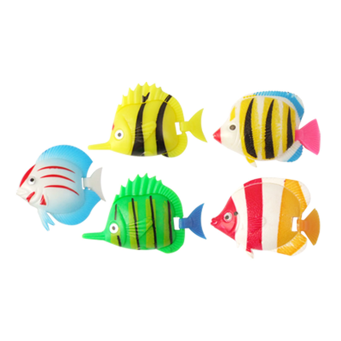 Aquarium Plastic Simulation Movable Tail Swimming Fish Decoration 5 Pcs