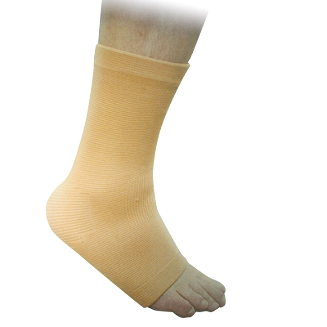 Elastic Ankle Sleeve Support Wrapper Light Brown