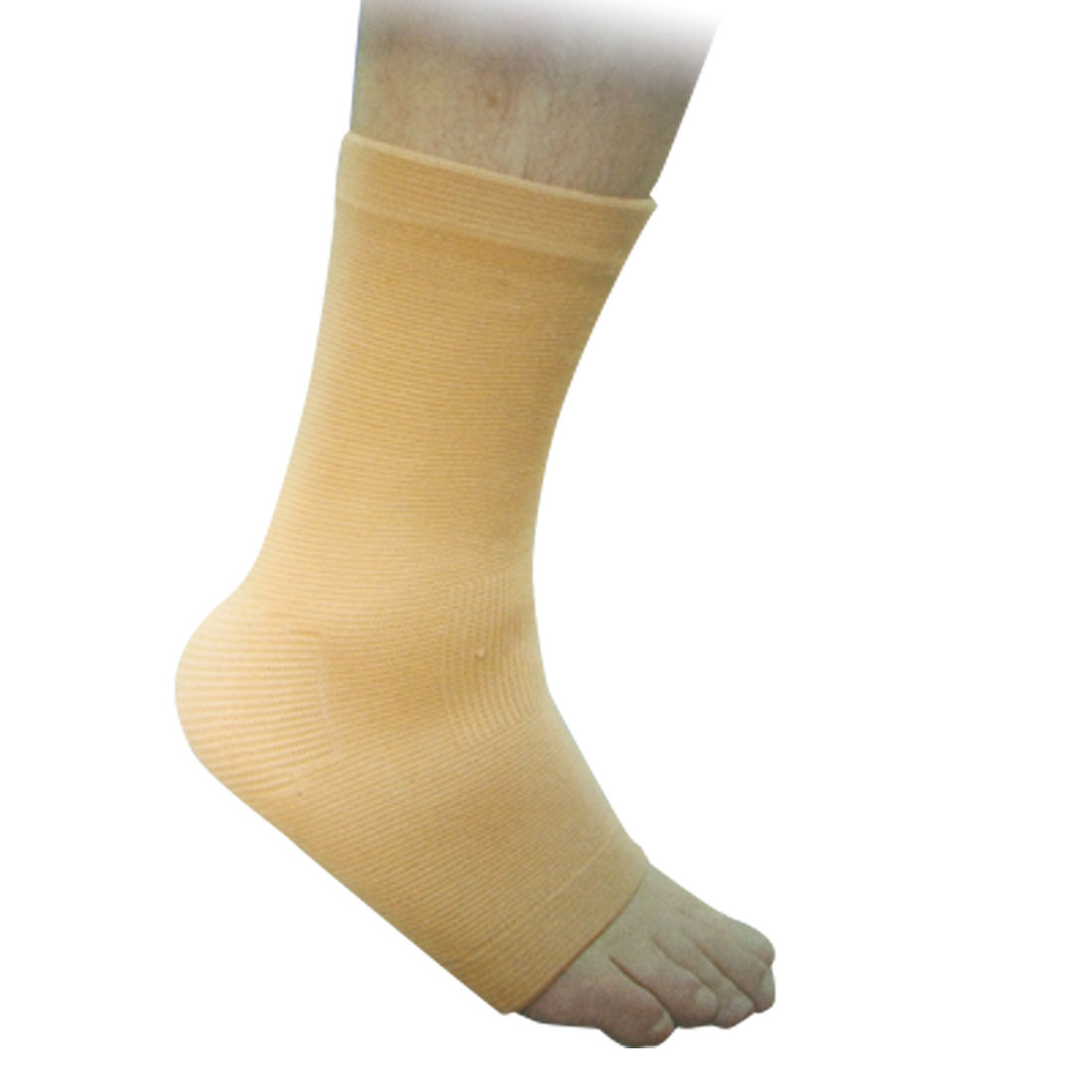 Light Brown Stretchy Ankle Support Exercise Protector