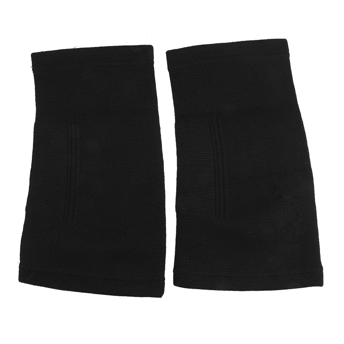 Athletic Fitting Stretchy Knee Sleeve Black Support 2 Pcs
