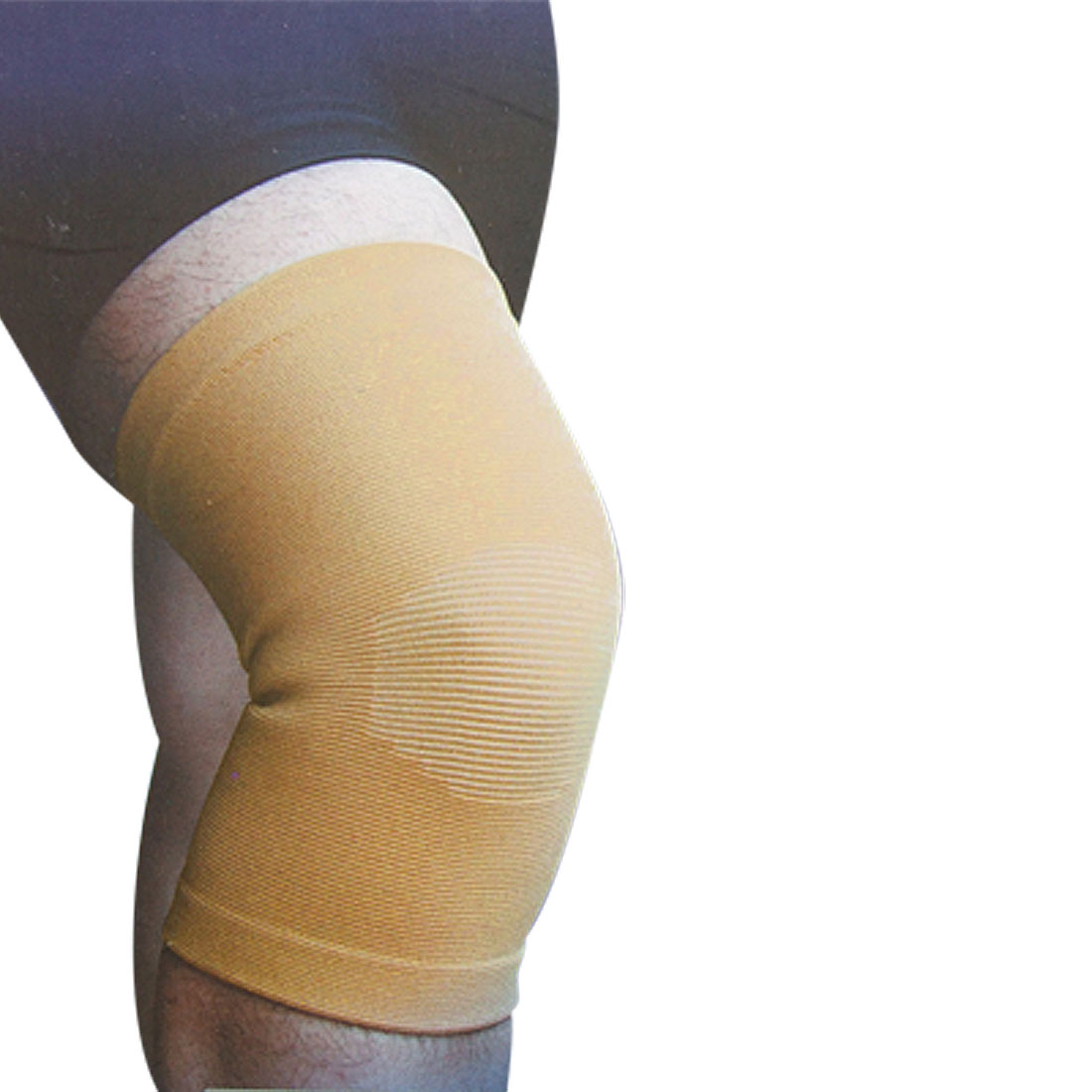 Sports Training Light Brown Stretchy Knee Support Protector