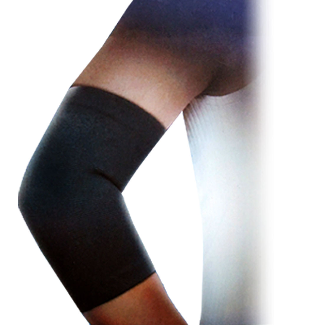 Sports Black Stretchy Elbow Support Wrapper Protector