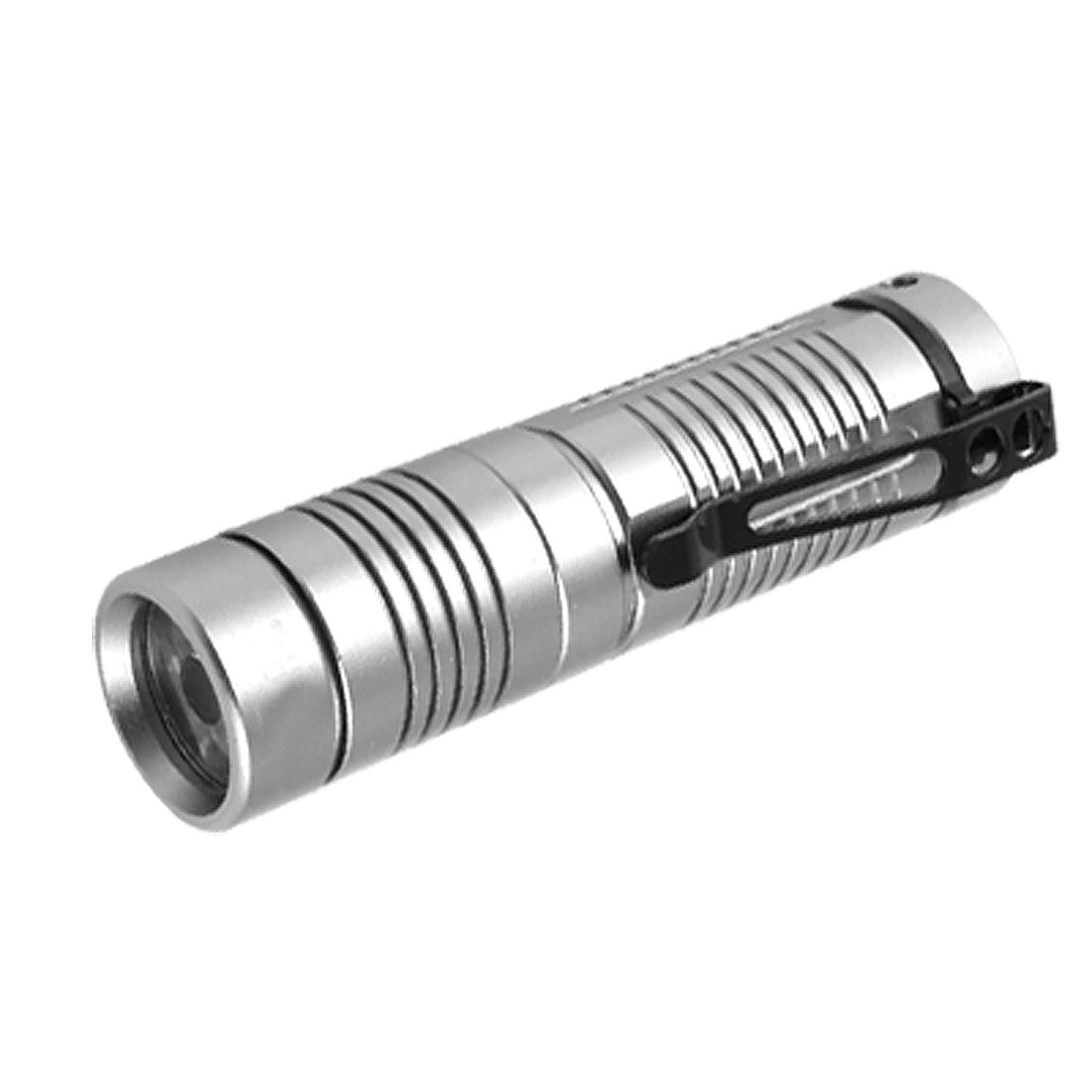 1W 90Lm LED White Light Gray Aluminum Alloy Casing Flashlight Torch