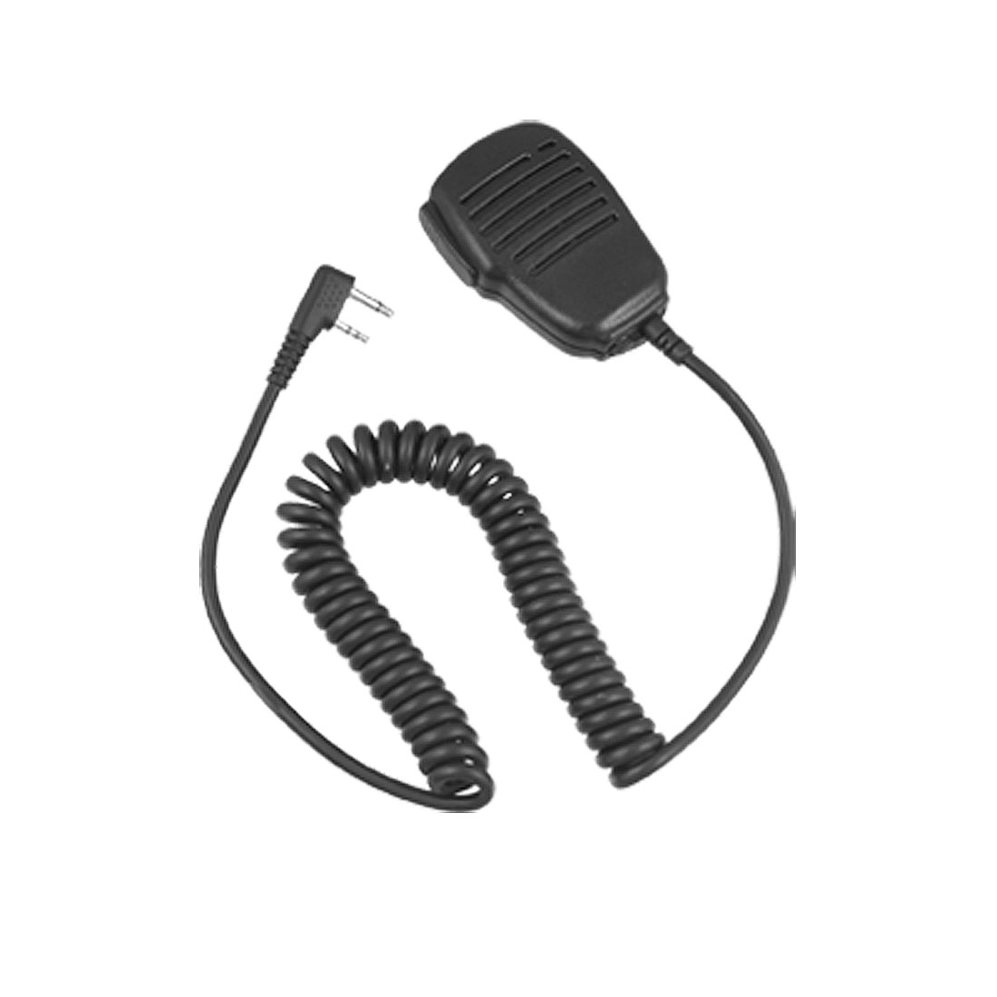 Black 2 Pin Coil Cord Speaker Microphone for Icom IC-IV8