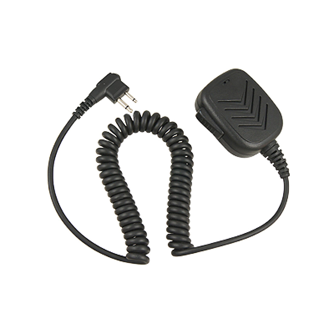Black 2 Pole Connector Handheld Speaker Microphone for Motorola GP88
