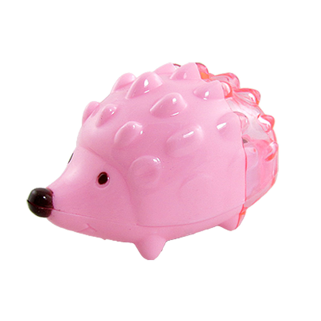 Pink Hedgehog Shaped 8mm Diameter Double Holes Manual Pencil Sharpener