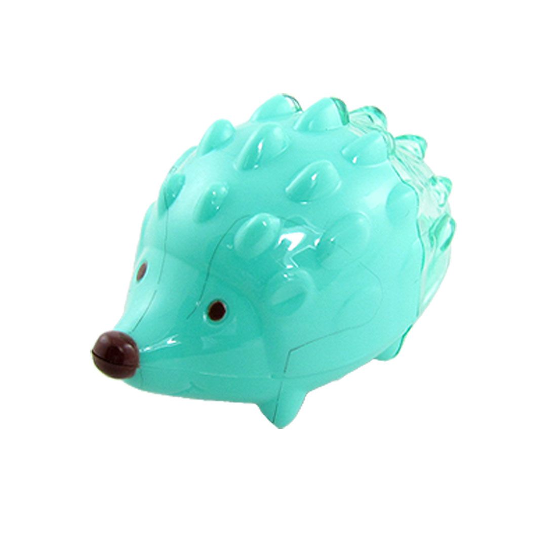 2 Pcs Green Double Holes Hedgehog Style Pencil Sharpener