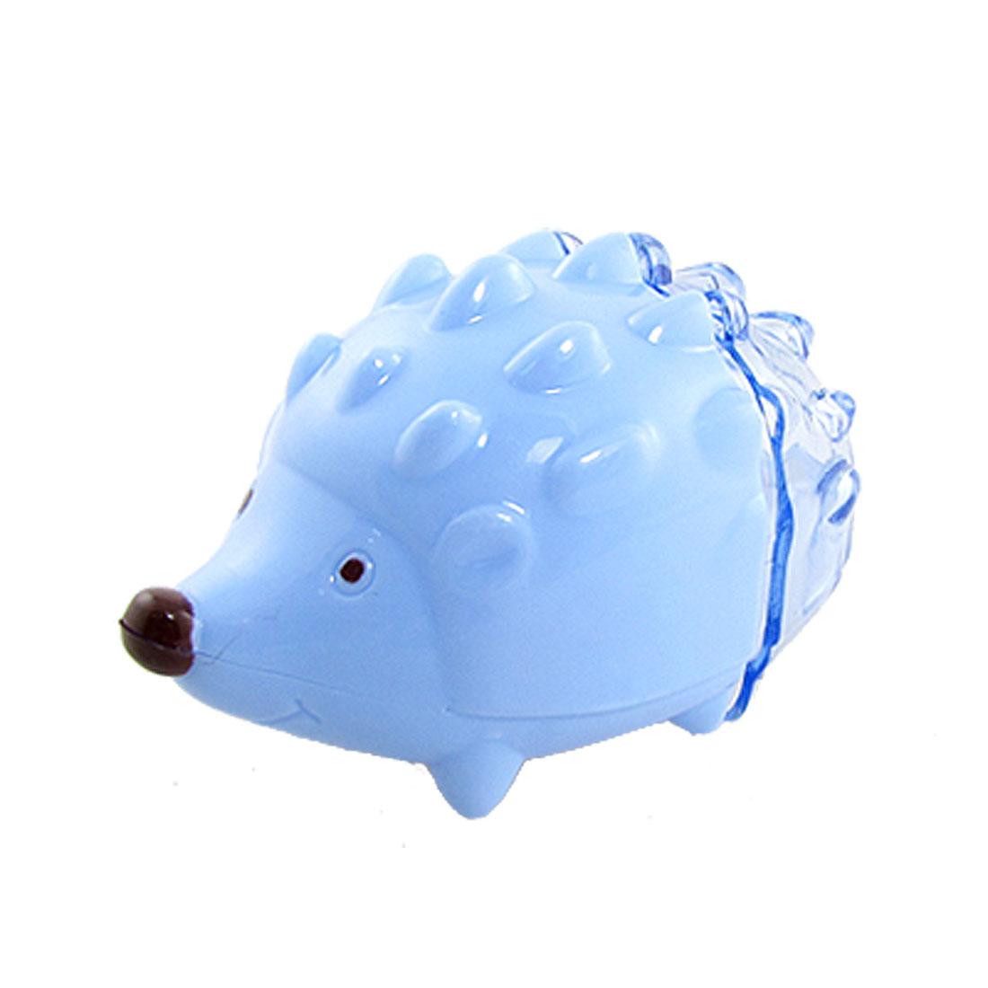 2 Pcs Blue Cute Hedgehog Shaped Double Holes Pencil Sharpener