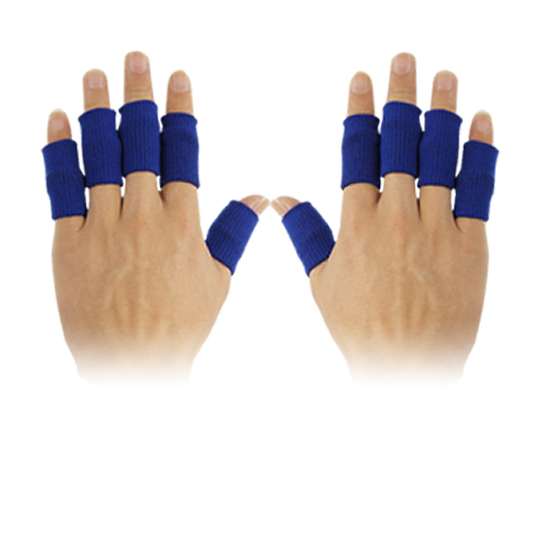 Sporting 10 Pcs Finger Blue Stretchy Protector Sleeve