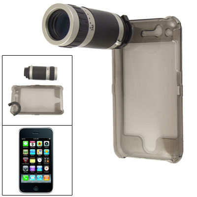 6X Optical Zoom Camera Telescope w Clear Gray Back Case