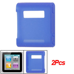 2 Pcs Light Blue Soft Silicone Skin Protective Case for iPod Nano 6G